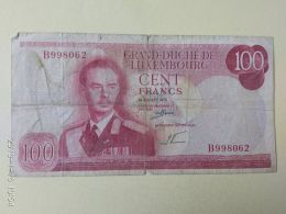 100  Francs 1970 - Luxembourg