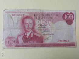 100  Francs 1970 - Lussemburgo