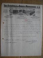 1933 MADRID - EIBAR - VALENCIA - SOC ESPANOLA DE ARMAS Y MUNICIONES - Fabrica De Armas - Espagne