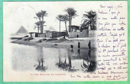 LE CAIRE KAFR PRES DES PYRAMIDES - 2 SCANS - Cairo