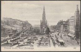 Princes Street, West, Edinburgh, 1910 - Valentine's Postcard - Midlothian/ Edinburgh