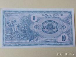 10  Dinari 1992 - Macedonia