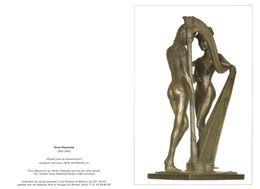 CARTE DOUBLE FORMAT - ÉTUDE POUR LA CONVERSATION - HARPE - SCULPTURE BRONZE 1979 DE ENZO PLAZZOTTA - Sculture