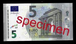 "Test Note ""JEGRO, Logo 7"" Billet Scolaire, Paper, 5 EURO, Training, Ca. 100 X 54 Mm, RRR, UNC - EURO"