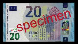 "Test Note ""JEGRO, Logo 7"" Billet Scolaire, Paper, 20 EURO, Training, Ca. 110 X 60 Mm, RRR, UNC - EURO"