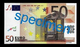 "Test Note ""JEGRO, Logo 7"" Billet Scolaire, Paper, 50 EURO, Training, Ca. 118 X 68 Mm, RRR, UNC - EURO"