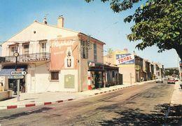 CPSM - ROQUEFORT-la-BEDOULE (13) - Aspect Du Centre Bourg Et De La Route D'Aubagne Dans Les Années 70 - Andere Gemeenten