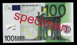 "Test Note ""JEGRO, Logo 7"" Billet Scolaire, Paper, 100 EURO, Training, Ca. 124 X 70 Mm, RRR, UNC - EURO"