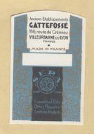 Etiquette Parfum Gattefossé VILLEURBANNE LYON Format : 4,5 Cm X 7 Cm Superbe.Etat - Labels