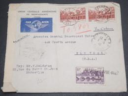 FRANCE - Enveloppe De Marseille Pour Les Etats Unis En 1942 Via Lisbonne Avec Contrôle Postal - L 12438 - Postmark Collection (Covers)