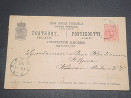 FINLANDE - Entier Postal En 1893 , Oblitérations Plaisantes - L 12439 - Finlande