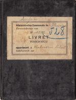 Carnet De Travail De Verhoeven Fleurus Charbon Charbonnage Petit Try Lambusart - Documentos Históricos