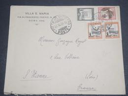 VATICAN - Enveloppe Pour La France En 1936 , Affranchissement Plaisant - L 12440 - Lettres & Documents