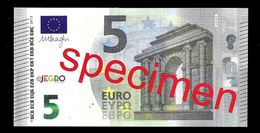 "Test Note ""JEGRO, Logo 6, Typ 1  Horizontal"",  Billet Scolaire, Paper, 5 EURO, Training, Ca. 108 X 55 Mm, RRR, UNC - EURO"