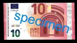 "Test Note ""JEGRO, Logo 6, Typ 1 Horizontal"" Billet Scolaire, Paper, 10 EURO, Training, Ca. 114 X 59 Mm, RRR, UNC - EURO"