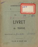 Carnet De Travail De Diodoro Farciennes Houilleur Charbon Charbonnage Petit Try Lambusart - Documents Historiques