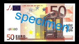 "Test Note ""JEGRO, Logo 6, Typ 1, Horizontal"" Billet Scolaire, Paper, 50 EURO, Training, Ca. 126 X 68 Mm, RRR, UNC - EURO"