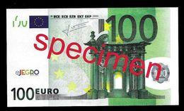"Test Note ""JEGRO, Logo 6, Typ 1, Horizontal"" Billet Scolaire, Paper, 100 EURO, Training, Ca. 134 X 76 Mm, RRR, UNC - Sonstige"