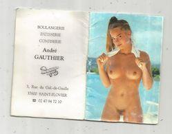 Calendrier érotique ,1998 , 20 Pages ,petit Format , Boulangerie Patisserie A. Gauthier ,37 , SAINT FLOVIER, 5 Scans - Calendars