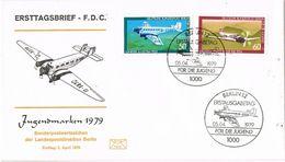 27153. Carta F.D.C. BERLIN (Alemania Berlin) 1979. Jugendmarken 79. Avion - [5] Berlín