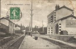 87  RANCON  La Gare  1915 - Gares - Avec Trains