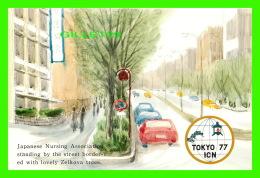 TOCKYO, JAPON - JAPANESE NURSING ASSOCIATION STANDING BY THE STREET BORDER - TOKYO 77 ICN - - Tokyo