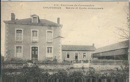Allier : Colombier, Mairie Et Ecole Communale - Commentry