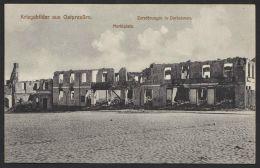 """""""Darkehmen"""", Zerstörung Marktplatz, 1915, In Die Schweiz Mit Zensur - Ostpreussen"""