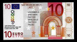 "Test Note ""JEGRO, Logo 6, Typ 3, Vertikal - Polymer"" Billet Scolaire, 10 EURO, Ca. 96 X 50 Mm, RRR, UNC - EURO"