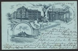 """Landau"", Litho ""Offiziers-Casino, 18. Inf.Reg."", 1899 Gelaufen - Landau"