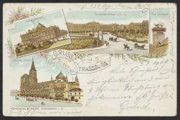 """Strassburg"" Farb-Litho, 1900 Gelaufen - Elsass"