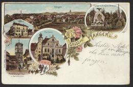 """""""Wangen"""", Farb-Litho, 1902 Gelaufen - Deutschland"""