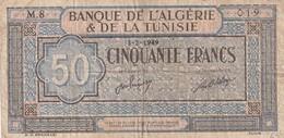 Billet De 50 Francs Type 1940 Ref Kolsky 414a Du 3 2 1950 - Tunisia