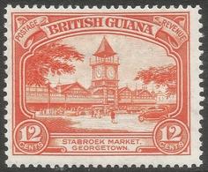 British Guiana. 1934-51 KGV. 12c MH. P14X13 SG 293a - British Guiana (...-1966)