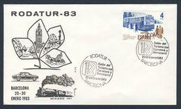 Spain Espana 1983 Cover / Brief / Lettre - RODATUR-83 - Fair Of Tourism By Road And Rail - Barcelona - Treinen