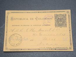 COLOMBIE - Entier Postal De Colon Pour La France En 1890 - L 12453 - Colombie