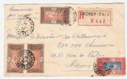 REC. ABOMEY CALAVI N° 442-  Avec 3 Timbres N° 96 + 1 N° 74 Cachet 25 AVR 37     PAR AVION Pour La FRANCE VOIR 2 SCANS - Dahomey (1899-1944)