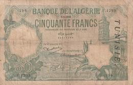 Billet De 50 Francs Type 1912 Ref Kolsky 411c Du 9 1 1933 - Tunisia