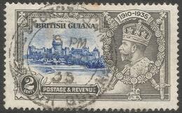 British Guiana. 1935 KGV Silver Jubilee. 2c Used. SG 301 - British Guiana (...-1966)