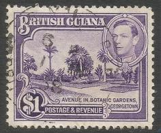 British Guiana. 1938-52 KGVI. $1 Used. P12½. SG 317 - British Guiana (...-1966)