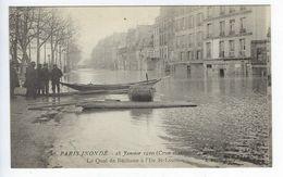 CPA Paris Inondé 1910 N° 26 Le Quai De Béthune à L'Île St-Louis - La Crecida Del Sena De 1910
