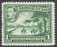 British Guiana. 1938-52 KGVI. 1c MH. P12½ SG 308a - British Guiana (...-1966)