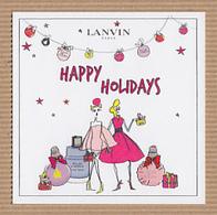 CC Carte Parfumée LANVIN Perfume Card JAPAN - Cartes Parfumées