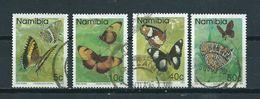 1993 Namibia 4x Vlinders,papillon,schmetterlinge Used/gebruikt/oblitere - Namibië (1990- ...)
