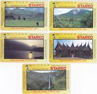 INDONESIA INDONESIEN  INDONESIE - IND P 320..324-P 318...322  Starko 1....6.  -. MINT RRR - Indonesia