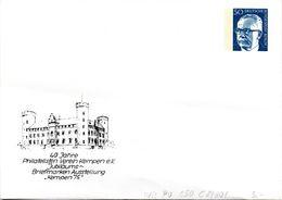 """Berlin Privat GZS-Umschlag PU 050 C2/001 WSt.50(Pf) Blau,""""40 Jahre Philatelisten-Verein Kempen"""" Ungebraucht - Berlin (West)"""
