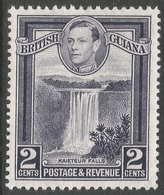 British Guiana. 1938-52 KGVI. 2c MH. P13X14 SG 309a - British Guiana (...-1966)