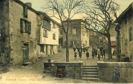 VAOUR (Tarn) -- PLACE  DES  ACCACIAS - Vaour