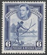 British Guiana. 1938-52 KGVI. 6c MH. P13X14 SG 311a - British Guiana (...-1966)