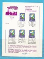 "FDS - FDC - ""BESCHERMING V H LEEFMILLIEU - SAUVEGARDE DE L'ENVIRONNEMENT"" - 5 AFSTEMPELINGEN 1974 ..........21 - FDC"